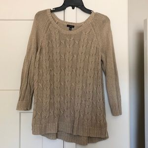 Talbots slouchy cable-knit sweater!